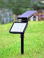 baratos -1pç 4.5 W Focos de LED / Luzes do gramado / Luz da parede solar Solar / Decorativa / Controle de luz Branco 3.7 V Iluminação Externa 48 Contas LED