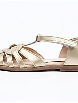 Недорогие -Девочки Обувь Наппа Leather Лето Удобная обувь Сандалии для Дети Золотой / Коричневый / Серебряный