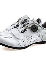 Недорогие -SANTIC Взрослые Обувь для велоспорта Дышащий, Противозаносный, Пригодно для носки Велосипеды для активного отдыха / Велосипедный спорт / Велоспорт / Горный велосипед Лиловый / Розовый / Серый+Белый