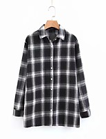 Недорогие -женская рубашка - рубашка с воротником