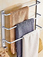 Недорогие -Держатель для полотенец Креатив Современный Алюминий 1шт Полотенцесушитель 3 На стену