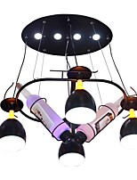 abordables -QIHengZhaoMing 4 lumières Lustre Lumière d'ambiance Finitions Peintes Métal 110-120V / 220-240V Blanc Crème