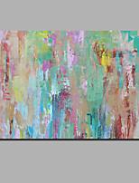 Недорогие -Hang-роспись маслом Ручная роспись - Абстракция / Пейзаж Современный Включите внутренний каркас / Рулонный холст / Растянутый холст