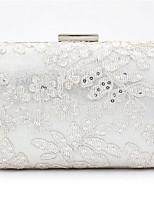 baratos -Mulheres Bolsas Algodão Bolsa de Festa Renda Branco