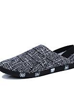 Недорогие -Муж. Комфортная обувь Лён Осень На каждый день Мокасины и Свитер Дышащий Черный / Бежевый / Синий