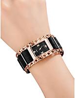abordables -Femme Montre Bracelet Quartz 30 m Etanche Créatif Acier Inoxydable Tissu Bande Analogique Rétro Mode Noir / Argent / Rouge - Argent Rouge Or Rose