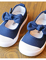 Недорогие -Девочки Обувь Полотно Весна / Осень Удобная обувь На плокой подошве для Ребёнок до года Темно-синий / Розовый / Винный