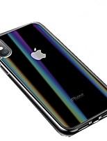 Недорогие -Кейс для Назначение Apple iPhone XS / iPhone XR С узором Чехол Однотонный Твердый Закаленное стекло для iPhone XS / iPhone XR / iPhone XS Max