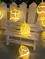 baratos -1m Cordões de Luzes 10 LEDs Branco Quente Decorativa Baterias AA alimentadas 1conjunto