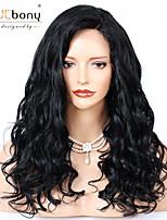 Недорогие -человеческие волосы Remy 360 Лобовой Парик Бразильские волосы Волнистый Парик Глубокое разделение 150% 180% Плотность волос Лучшее качество Горячая распродажа Толстые Нейтральный Жен. Длинные