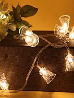 baratos -1.2m Cordões de Luzes 10 LEDs Branco Quente Decorativa Baterias AA alimentadas 1conjunto