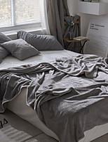 baratos -Velocino de Coral / Super Suave, Gravado Sólido Poliéster cobertores