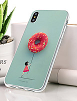 baratos -Capinha Para Apple iPhone XR Ultra-Fina / Estampada Capa traseira Flor Macia TPU para iPhone XR