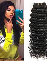 Недорогие -3 Связки Бразильские волосы Индийские волосы Крупные кудри 8A Натуральные волосы Необработанные натуральные волосы Wig Accessories Подарки Головные уборы 8-28 дюймовый Естественный цвет