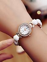 baratos -Mulheres Bracele Relógio Relógio de Pulso Quartzo Novo Design Relógio Casual Lega Banda Analógico Elegante Minimalista Dourada - Dourado