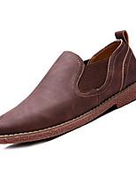 Недорогие -Муж. Комфортная обувь Полиуретан Осень На каждый день Мокасины и Свитер Дышащий Темно-синий / Темно-русый / Темно-коричневый