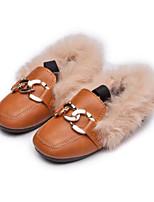 Недорогие -Девочки Обувь Полиуретан Наступила зима Детская праздничная обувь На плокой подошве для Дети (1-4 лет) Черный / Желтый / Розовый