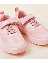 Недорогие -Девочки Обувь Сетка Весна & осень Удобная обувь Кеды На липучках для Дети Черный / Розовый