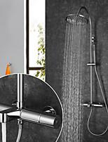 Недорогие -Смеситель для душа / Ванная раковина кран - Современный Хром На стену Керамический клапан