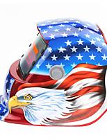 Недорогие -солнечный автомат потемнения сварочный шлем 107 красный флаг орел