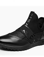 Недорогие -Муж. Комфортная обувь Наппа Leather Весна & осень На каждый день Мокасины и Свитер Черный