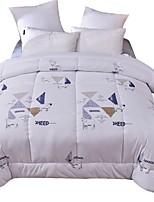 baratos -Confortável - 1 Edredom / 1 Colcha Outono / Inverno Lã Estampado / Letra