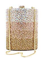 Недорогие -Жен. Мешки PU / Сплав Вечерняя сумочка Кристаллы Сплошной цвет Золотой