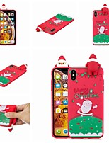 baratos -Capinha Para Apple iPhone XR / iPhone XS Max Estampada Capa traseira Natal Macia TPU para iPhone XS / iPhone XR / iPhone XS Max