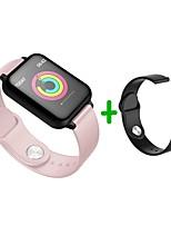 baratos -KUPENG B57S Pulseira inteligente Android iOS Bluetooth Esportivo Impermeável Monitor de Batimento Cardíaco Medição de Pressão Sanguínea Tela de toque Podômetro Aviso de Chamada Monitor de Sono