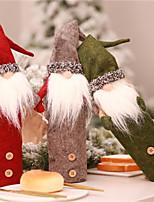 Недорогие -Праздничные украшения Новый год / Рождественский декор Рождество / Рождественские украшения Мультипликация / Для вечеринок / Декоративная Серый / Красный / Зеленый 1шт