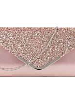 Недорогие -Жен. Мешки PU Вечерняя сумочка Блеск Сплошной цвет Черный / Розовый / Серебряный