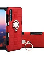Недорогие -Кейс для Назначение Huawei P20 Pro / P20 lite Защита от удара / Кольца-держатели Кейс на заднюю панель броня Мягкий ТПУ для Huawei P20 / Huawei P20 Pro / Huawei P20 lite