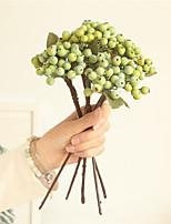 Недорогие -Искусственные Цветы 1 Филиал Классический Простой стиль / Пастораль Стиль Pастений / Фрукты Букеты на стол