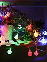 abordables -6m Guirlandes Lumineuses 30 LED Plusieurs Couleurs Décorative Alimentation Solaire 1 set