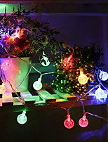 baratos -6m Cordões de Luzes 30 LEDs Multicolorido Decorativa Alimentado por Energia Solar 1conjunto