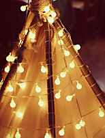 Недорогие -ZHT 4м Гирлянды / Интеллектуальные огни 40 светодиоды Тёплый белый / Холодный белый Для вечеринок / Милый / Градиент цвета Аккумуляторы AA 1 комплект