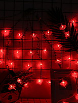 Недорогие -4м Гирлянды 40 светодиоды Красный Декоративная Аккумуляторы AA 1 комплект