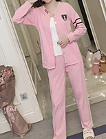 abordables -Asymétrique Costumes Pyjamas Femme Géométrique