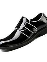 Недорогие -Муж. Комфортная обувь Полиуретан Осень Деловые Туфли на шнуровке Дышащий Черный