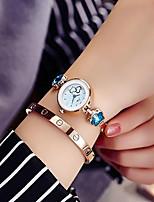 baratos -Mulheres Bracele Relógio Relógio de Pulso Quartzo Relógio Casual imitação de diamante Lega Banda Analógico Brilhante Elegante Prata / Dourada - Azul Azul marinho Marinha / Branco