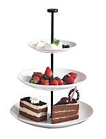 abordables -trois couches rond assiette de fruits assiette de fruit plat de thé haute thé plateau à dessert cp0010