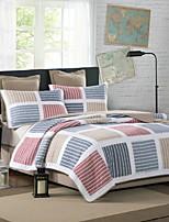 baratos -Confortável - Almofadas 2pcs (apenas 1pc travesseiro para Duplo ou individual) / 1 Cobertura de Cama Verão Algodão Xadrez / Quadrados