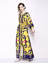 Недорогие -Жен. Богемный Оболочка Платье - Геометрический принт, С принтом Средней длины
