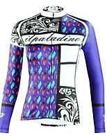 Недорогие -ILPALADINO Жен. Длинный рукав Велокофты - Синий Мода Велоспорт Верхняя часть Зима, Эластан