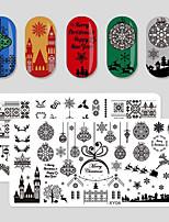 Недорогие -8 pcs Стразы для ногтей Новый дизайн / Прочный Новогодняя тематика Креатив маникюр Маникюр педикюр Рождество / фестиваль Мода