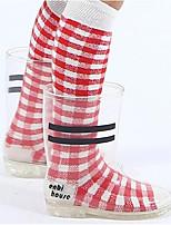 Недорогие -Мальчики / Девочки Обувь ПВХ Весна / Осень Удобная обувь Ботинки для Дети Белый / Черный