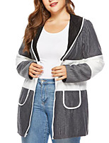 Недорогие -женский рыхлый пальто - сплошной цветной шея