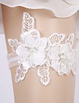 baratos -Fibra de Leite Casamento Wedding Garter Com Caixilhos / Fitas / Flor / Elástico Ligas Casamento
