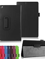 Недорогие -Кейс для Назначение Asus ASUS ZenPad 8.0 Z380M / ASUS ZenPad 3 8.0 Z581KL Защита от удара / со стендом / Ультратонкий Чехол Однотонный Твердый Кожа PU