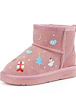 Недорогие -Девочки Обувь Замша Наступила зима Зимние сапоги Ботинки для Дети Черный / Розовый